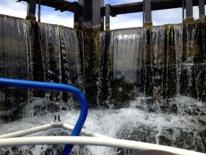 Lock waterfall